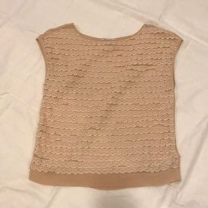 Madewell lace sleeveless top